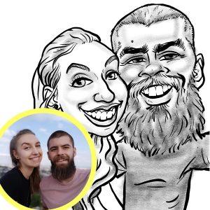 2 Personen schwarz-weiß